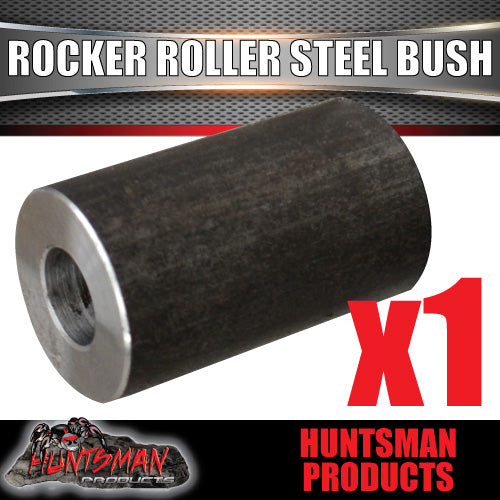 "x1 ROCKER ROLLER TRAILER SPRING STEEL BUSH 58mm x 35MM. SUIT 5/8"" BOLT."