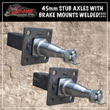 "10"" TRAILER/CARAVAN ELECTRIC BRAKE KIT & 45mm STUBS."