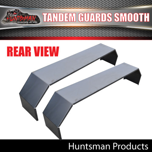 x2 Tandem Smooth Trailer Caravan Mudguards & Steps 250mm Suit R/roller Springs