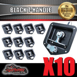 x10 Black T Handle Locks. Stainless Steel, Flush Mount,