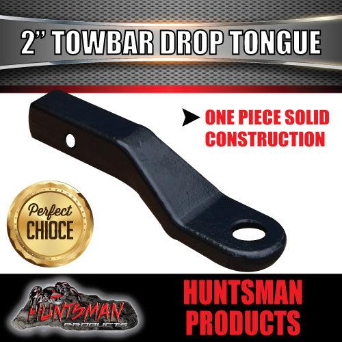 "2"" DROP FORGED TOWBAR TONGUE TO SUIT 70MM 4500KG RATED TOW BALL."