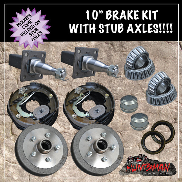 "10"" TRAILER/CARAVAN ELECTRIC BRAKE KIT & 40mm STUBS."