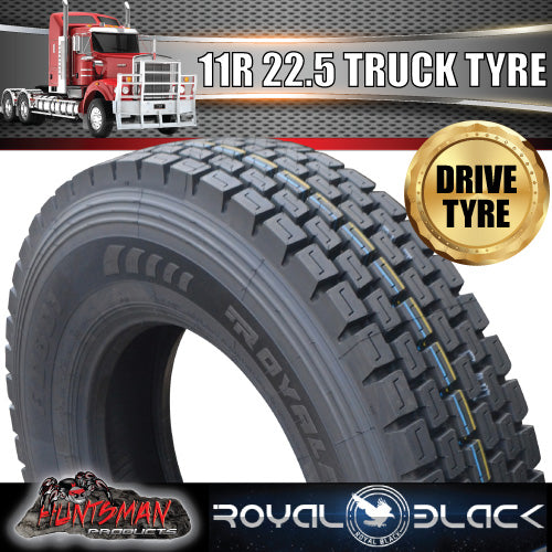 11R22.5 ROYAL BLACK TRUCK TYRE 148/145M 16PLY- DRIVE.