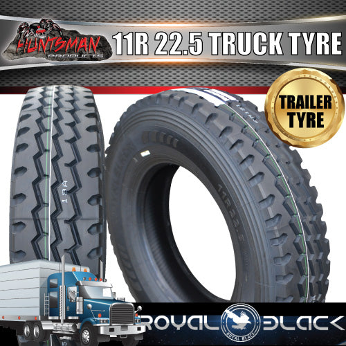 11R22.5 ROYAL BLACK TRUCK TYRE 148/145M 16PLY- TRAILER. 11 22.5