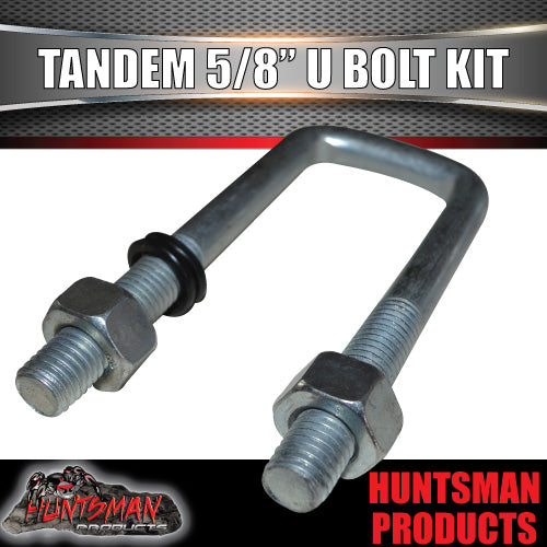 "Tandem 63mm X 170mm Square 5/8"" BSW High Tensile U bolt kit"