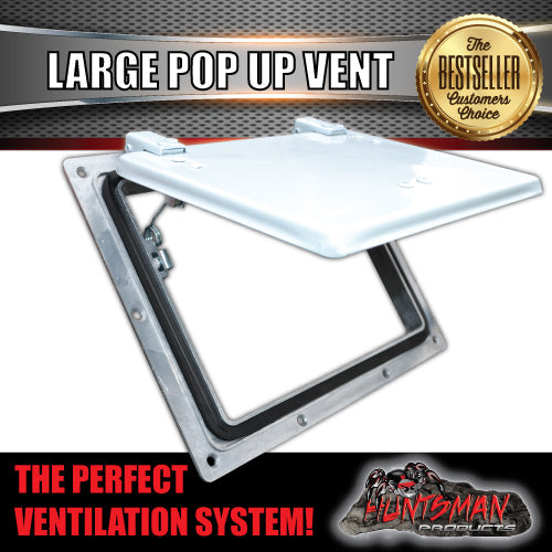 X1 Large white pop up ROOF AIR VENTS