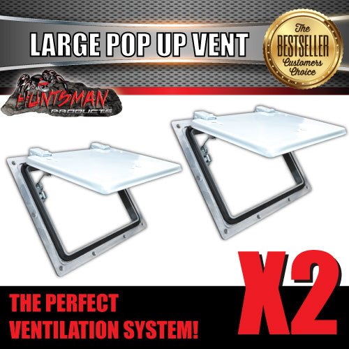 X2 Large white pop up ROOF AIR VENTS