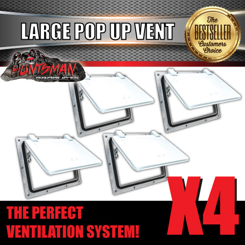 X4 Small white pop up ROOF AIR VENTS