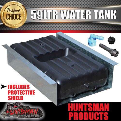 59 LITRE UNDERBODY WATER TANK WITH PROTECTIVE SHIELD
