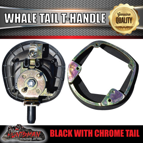 x2 Black Whale Tail T Handle Folding Lock