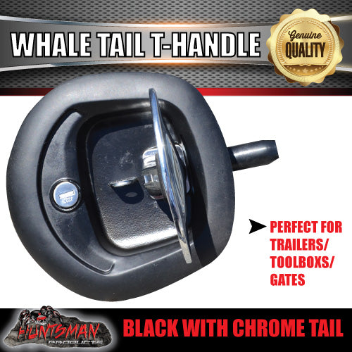 x1 Black Whale Tail T Handle Folding Lock