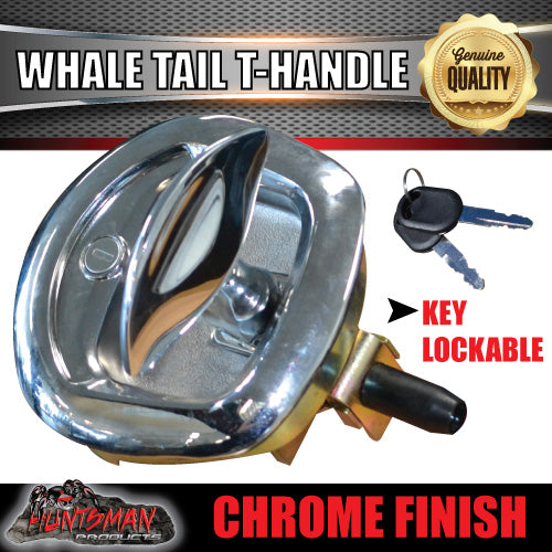 x10 Chrome Whale Tail T Handle Folding Lock