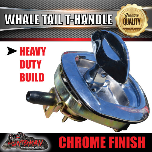 x6 Chrome Whale Tail T Handle Folding Lock