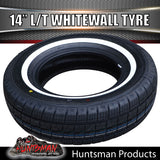 "14"" WHITEWALL 185R14C COMFORSER TYRE. 185 14"