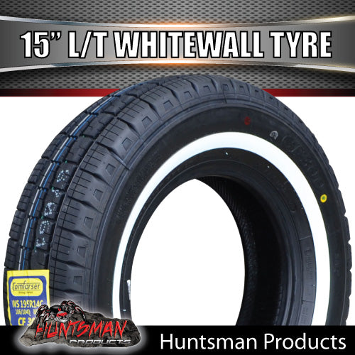 "15"" WHITEWALL 205/75R15C COMFORSER TYRE."