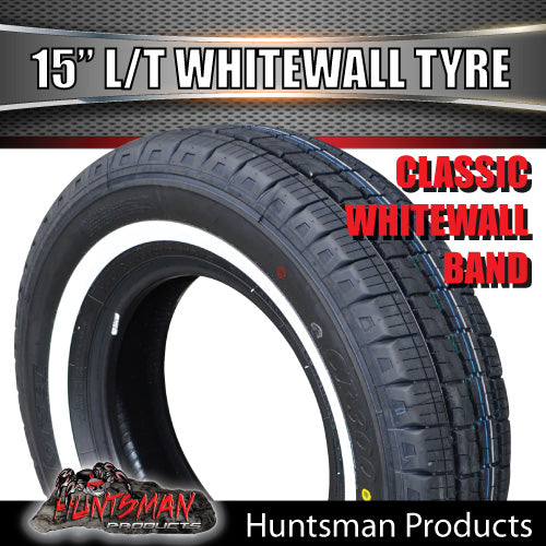 "15"" WHITEWALL 195R15C COMFORSER TYRE."