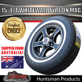 "15"" Ford Pattern Stealth Mag & 195R15C comforser Whitewall Tyre"
