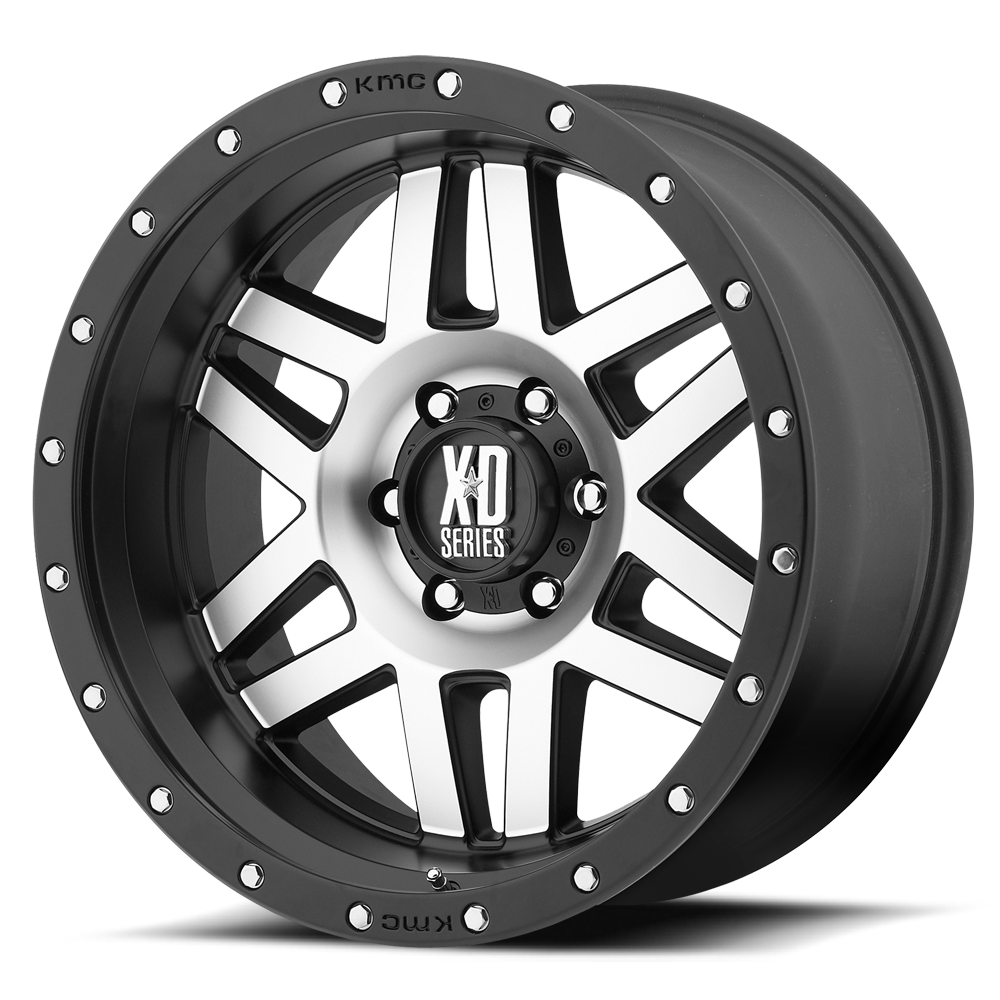KMC XD MACHETE 17X9 Satin Black Mach Face Alloy Mag Wheel Rim
