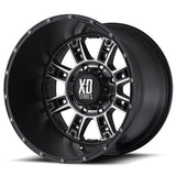 KMC XD809 RIOT 20x9 Matt Black mach Alloy Mag Wheel JEEP