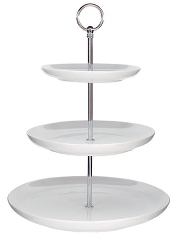 Cake Stand - 3-Tier White