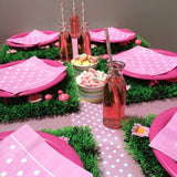 Mini Glass Milk Bottle - Pink Flags