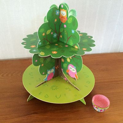Woodland Owl Cupcake Stand