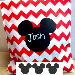 Mickey Mouse Chalkboard Labels -sheet of 10