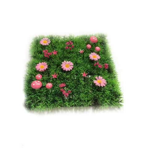 Pink Fairy Mushroom Plastic Grass Placemat