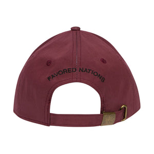 GAS WATERPROOF 6-PANEL HAT – BURGUNDY