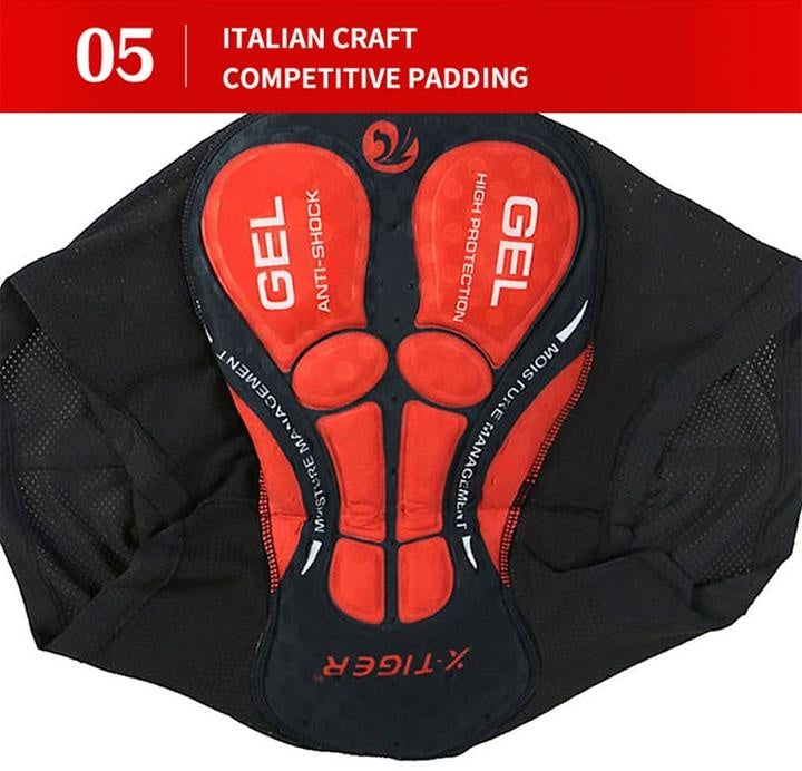 5D Gel Pad Cycling Men Shorts