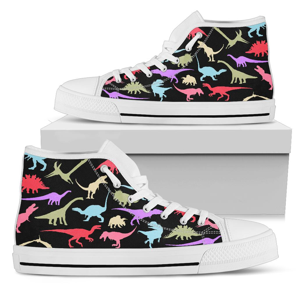 Colorful Dinosaurs - Dinosaur High Tops