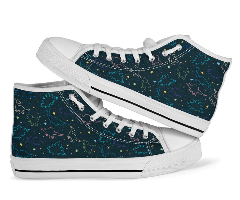 Space Dinos - Dinosaur High Tops