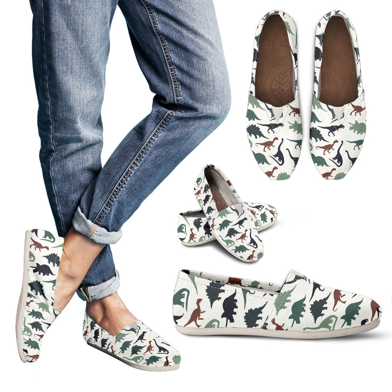 Flat Dinos - Women's Canvas Shoes