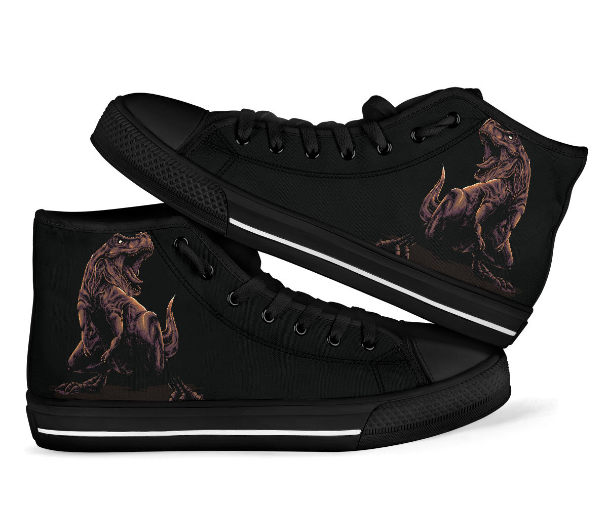 Angry Rex - Adult High Top Shoe