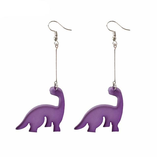 Purple dangling brontosaurus dinosaur earnings.