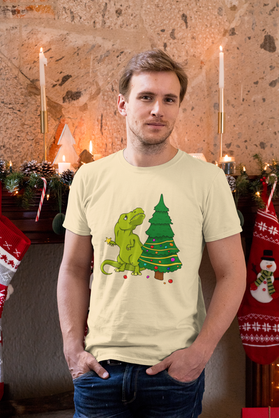 Dinosaur Christmas Shirt For Adults