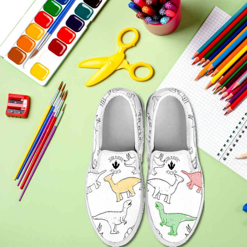 Color Your Own Dinosaur Shoe