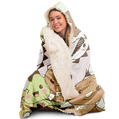 Adult Hooded Dinosaur Blanket