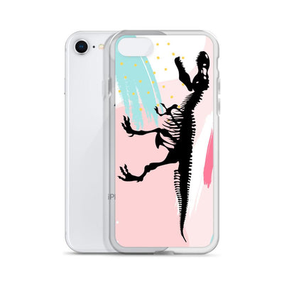 Dinosaur iPhone Case - Pink Retro T-Rex