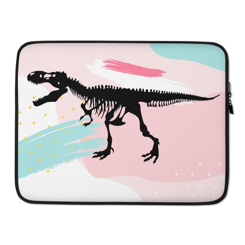 Dinosaur Laptop Bag - Pink Retro T-Rex