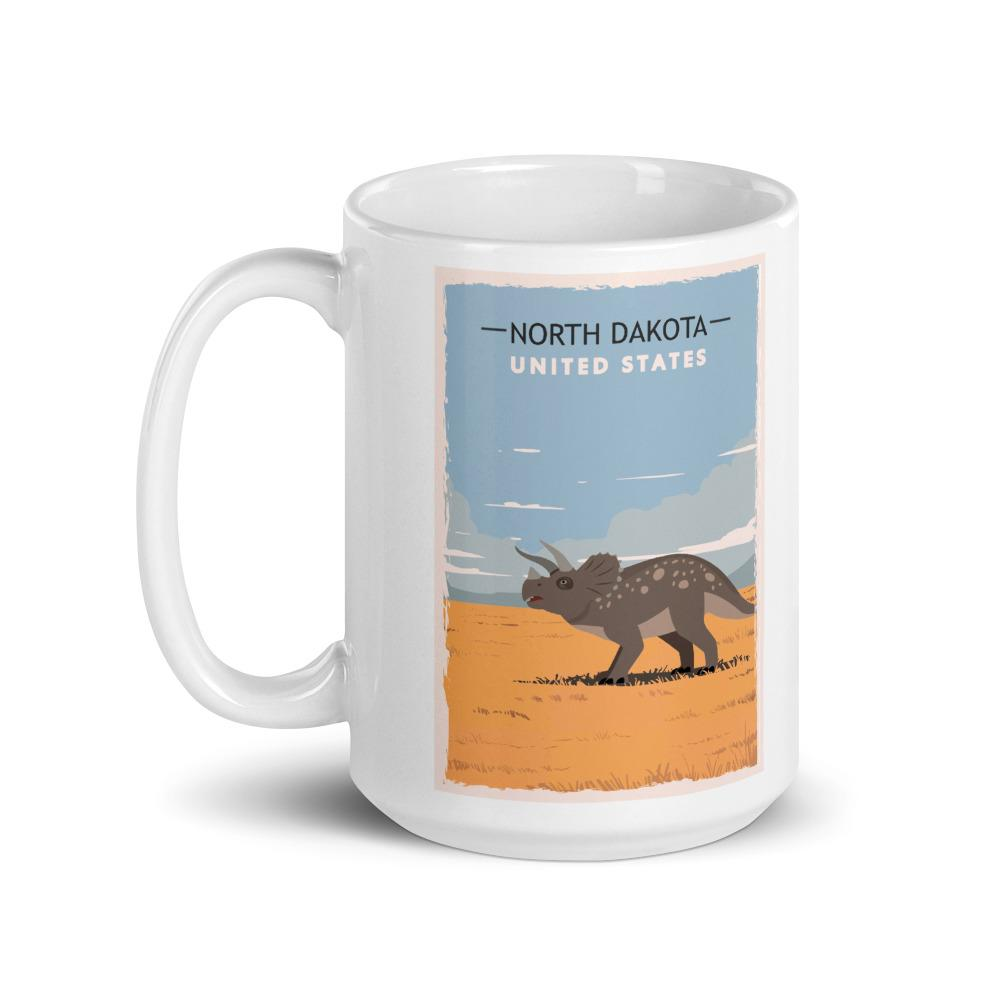 North Dakota Dinosaur Coffee Mug