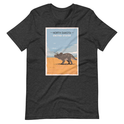 Adult North Dakota Dinosaur Shirt