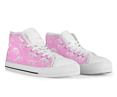 Pink Dino Skeletons - Dinosaur High Tops