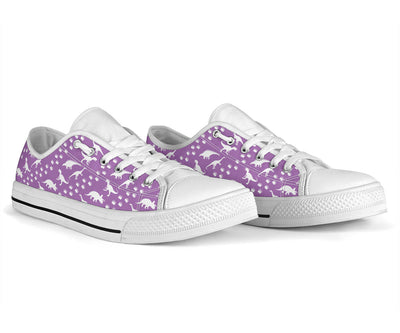 Purple Dinosaur Stomp - Womens Dinosaur Low Top Shoes