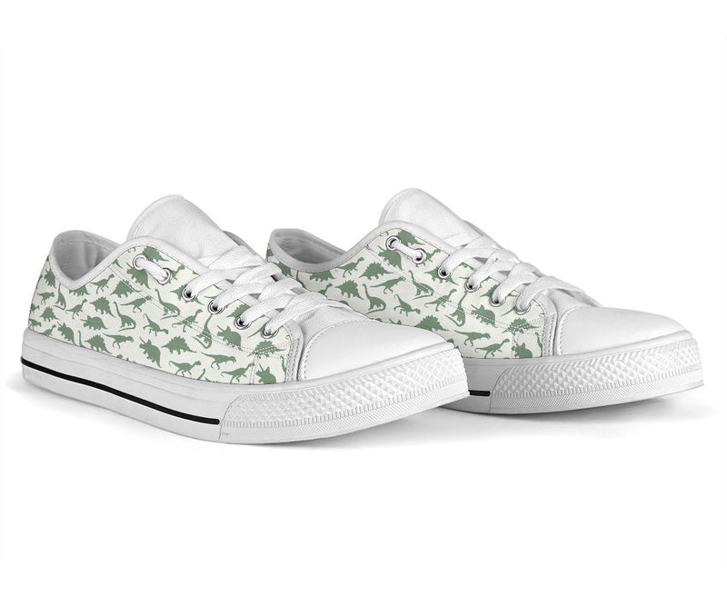 Green Dinos - Low Top Shoes