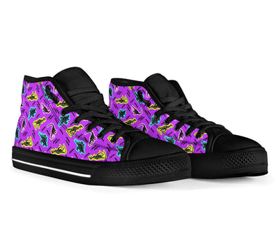 Black Womens Dinosaur Shoes