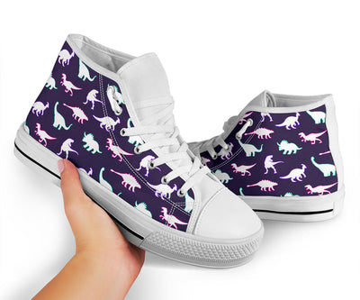 Neon Dinosaurs - Womens Dinosaur Shoes