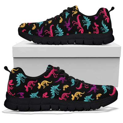 Black Trim Kids Dinosaur Shoes