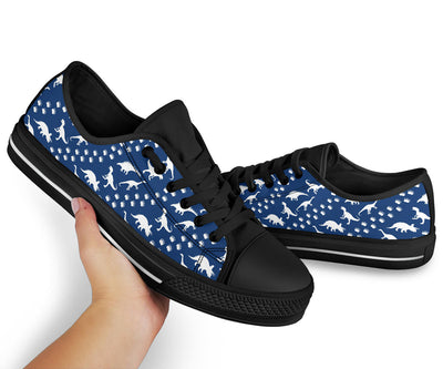 Black And Blue DInosaur Shoes