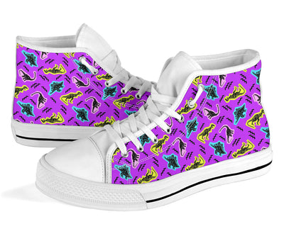Purple Dinosaur High Tops
